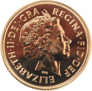 2002 Gold Sovereign Obverse