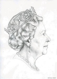 The fifth portrait of Queen Elizabeth II, by Jody Clark