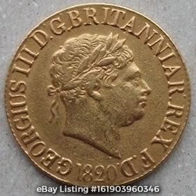 1820 'closed 2' Sovereign