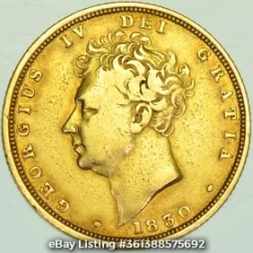 1830 George IV Sovereign