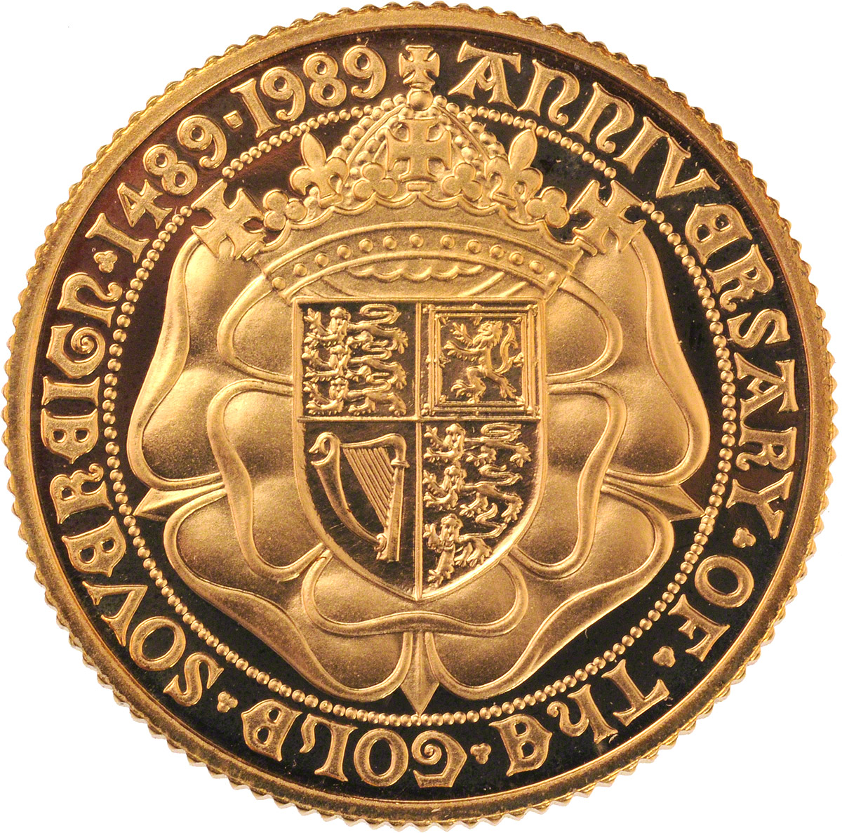 Reverse Face of a 1989-Gold-Sovereign