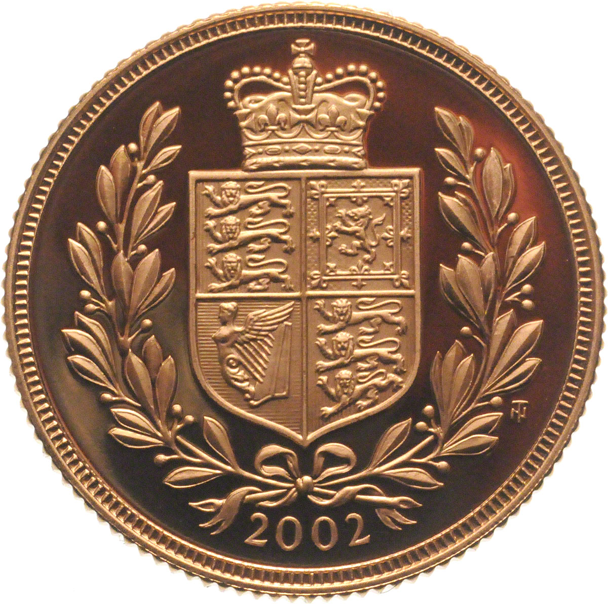 Reverse Face of a 2002-Gold-Sovereign