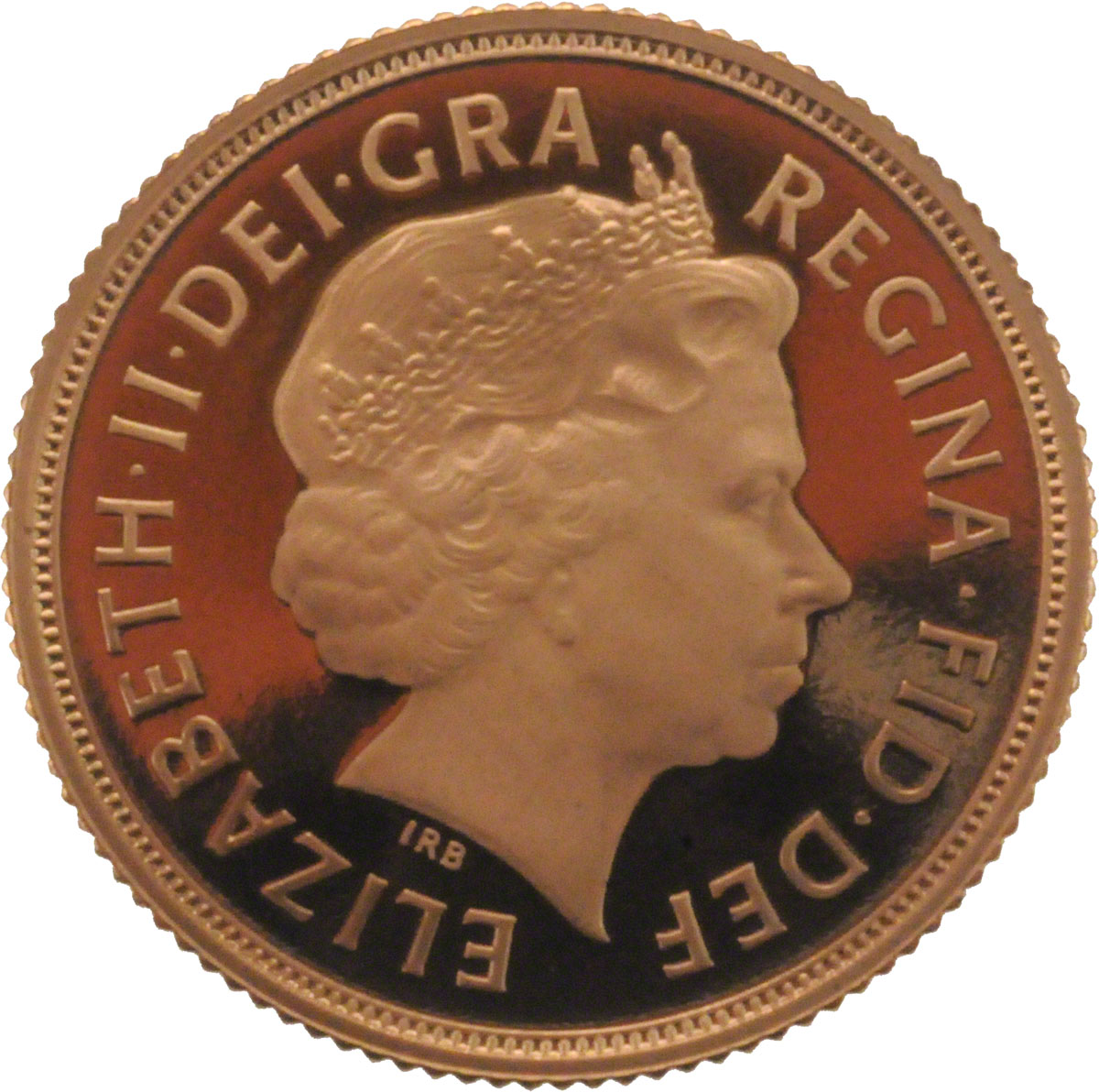 Obverse Face of a 2012-Gold-Sovereign