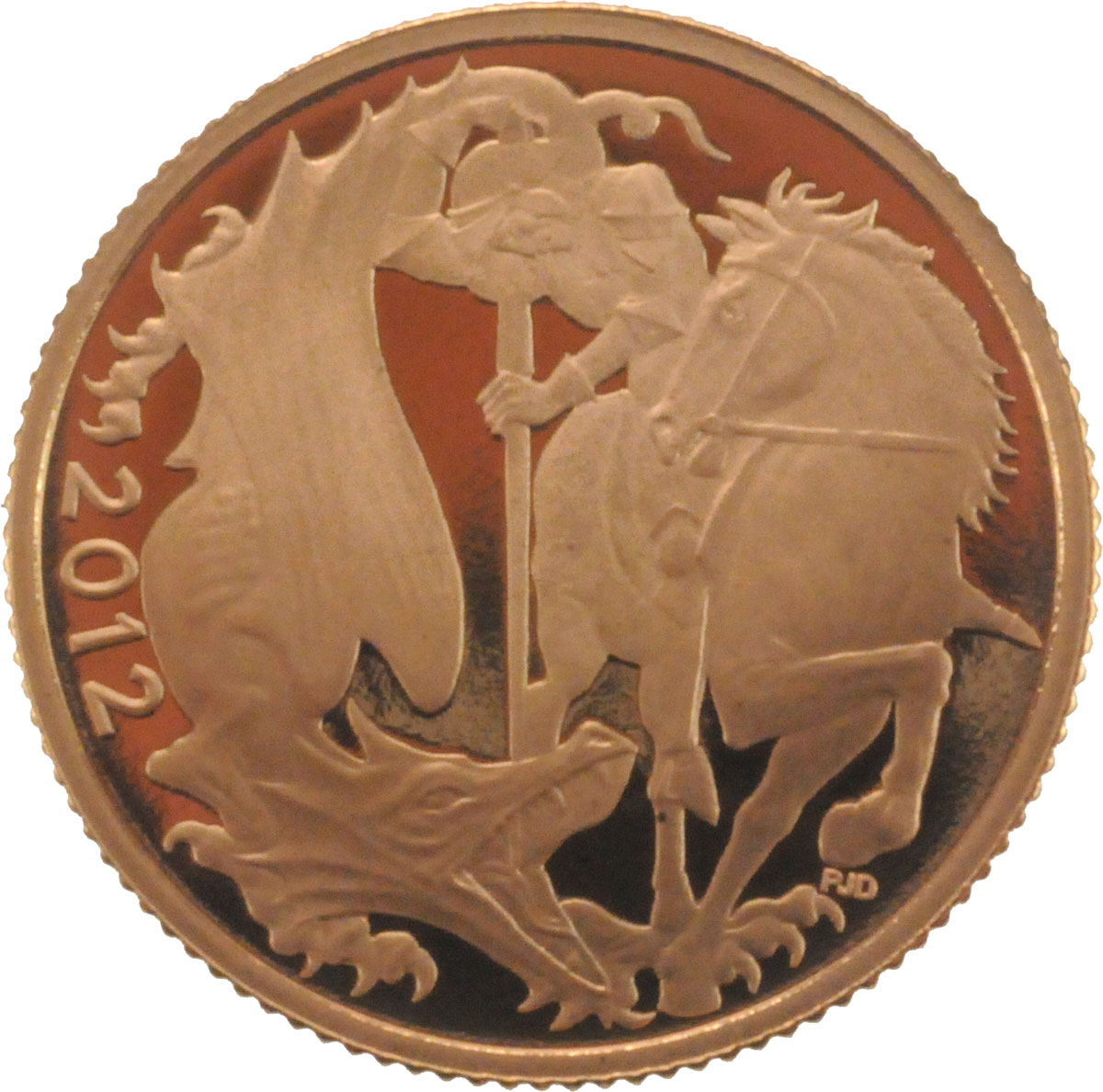 Reverse Face of a 2012-Gold-Sovereign