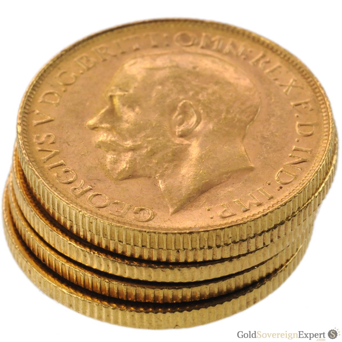5 Bullion Grade Gold Sovereigns