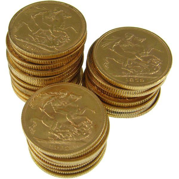 A single bullion grade Sovereign