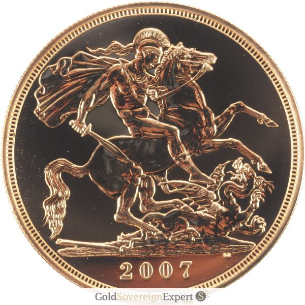 2007 UK BU £5 Crown Reverse