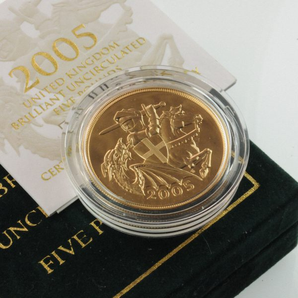 2005 Brilliant Uncirculated Crown - £5 Gold Sovereign