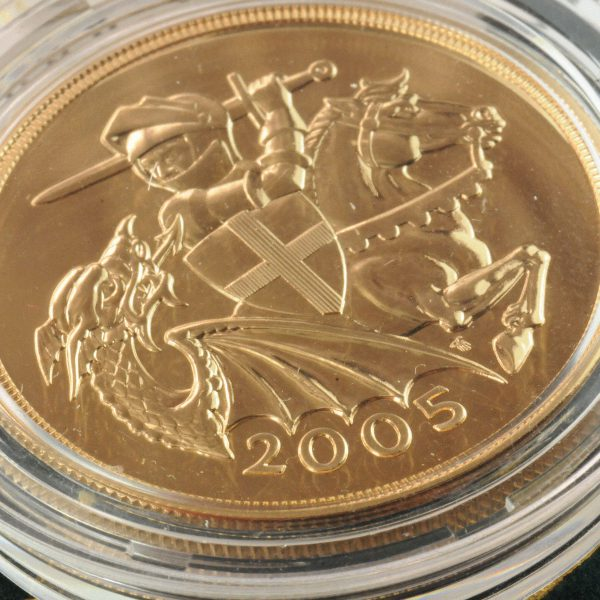 2005 Quintuple £5 Gold Sovereign