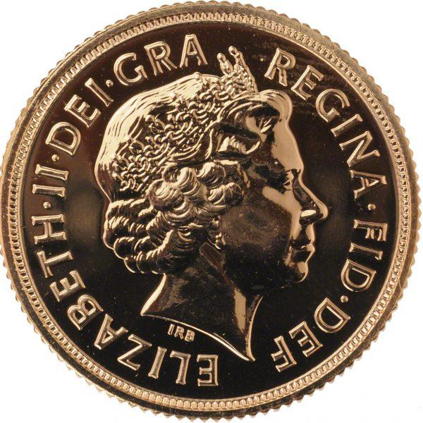 2011 Gold Sovereign (Obverse)