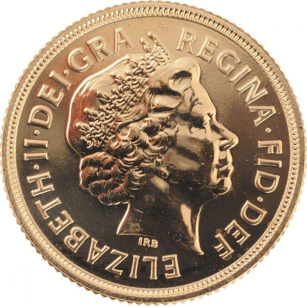 2012 Full Gold Sovereign (Obverse)