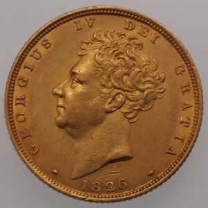 1826 Gold Sovereign - Obverse