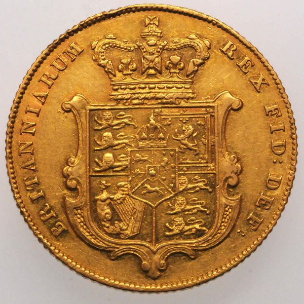 1839 Gold Sovereign : George IV - Reverse