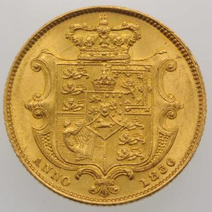 1836 Gold Sovereign : William IV - Reverse