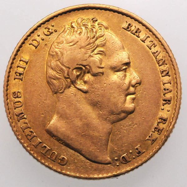 1837 Sovereign - Obverse
