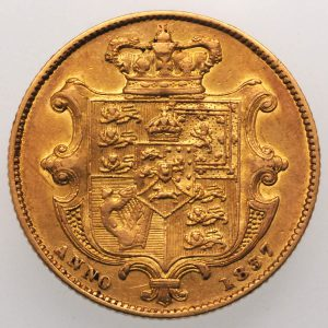 1837 Sovereign - Reverse