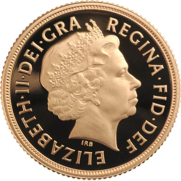 2015 Gold Sovereign - Fourth Portrait Obverse