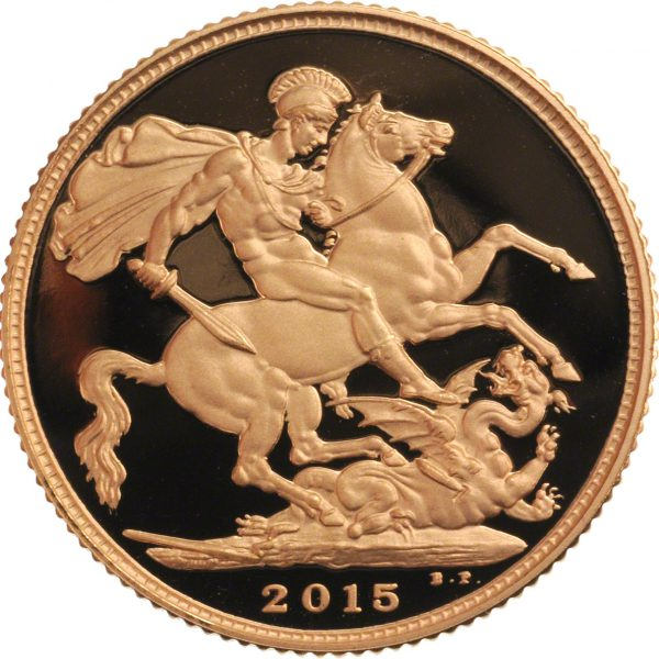 2015 Gold Sovereign - Fourth Portrait Reverse