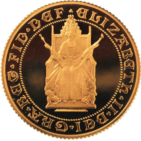 1989 Proof Gold Sovereign (Obverse)