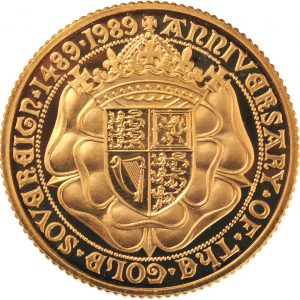 1989 Proof Gold Sovereign (Reverse)