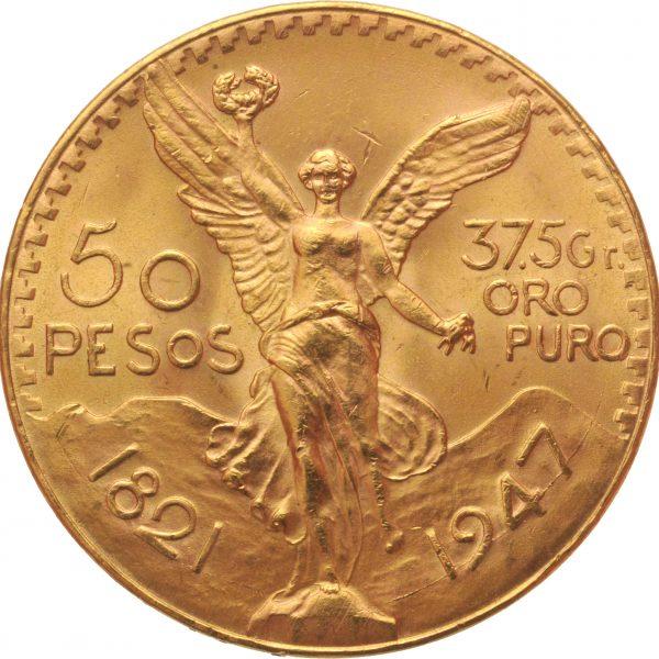 Mexican 50 Pesos Gold Coin